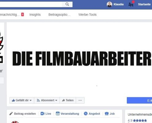 Social-Media-Strategie und Coaching DIE FILMBAUARBEITER